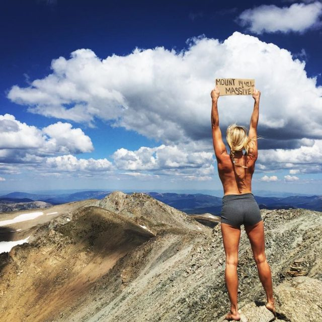 Bagged another 14er today topless barefoot and free mountmassive mountainbabeshellip